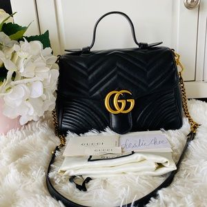 ❌Sold❌Gucci Small GG Marmont Top Handle.❤️